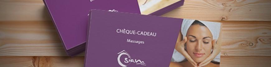 Chèques massages